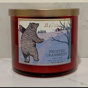 B&BW Frosted Cranberry Candle